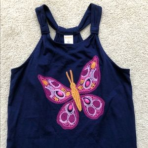 NWOT's GYMBOREE Navy Butterfly Tank